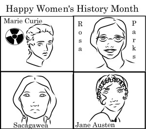 Opinions - WebWomen's History Month comic