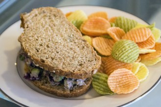 (Zach Brendza/Features Editor) Cranberry maple walnut chickpea salad sandwich from Fortuitea Cafe.
