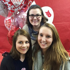 (Addison Smith / Opinions Editor) Annie Opie, Addison Smith and McKenzie Clarke pose at the Funny Fundraiser benefiting St. Ursula's School in Allison Park, Pennsylvania.