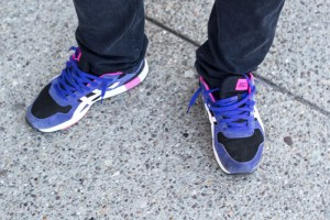 (Fred Blauth / Editor-in-Chief) Bright colored athletic-style shoes are a bold, and comfortable, way to set off an outfit.