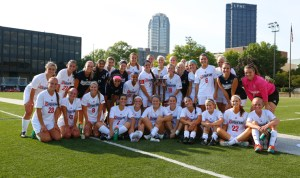 The women's soccer team caputured the second-annual Steel City Classic championship Sunday afternoon at Rooney Field. Three freshmen contributed four of the team's five goals.