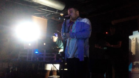 "Photo by Julian Routh | Editor-in-Chief. Mac Miller plays a song from his new album at a surprise release party last Friday at Spirit in Lawrenceville. Mac performed most of ""GO:OD AM"" for a small crowd."