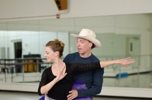"Photo Courtesy of Pittsburgh Ballet Theatre Married couple Christopher Budzynski and Alexandra Kochis took center stage in ""Western Symphony,"" the final dance of the Repertoire."