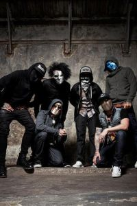 "Courtesy of Hollywood Undead. Los Angeles rock-rap group Hollywood Undead brought its latest tour to Stage AE Sunday. They are touring in support of their fourth album, ""Day of the Dead."""
