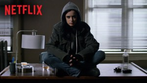 "Courtesy of Marvel Television ""Jessica Jones"" sees its main character try to come to terms with a tramautic event from her past. The show takes a mature and serious look at issues like sexual assault and post tramautic stress disorder"
