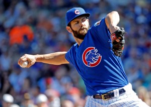 AP Photo | In this March 9, 2016, file photo, Chicago Cubs' Jake Arrieta throws during the first inning of a spring training baseball game against the Cleveland Indians, in Mesa, Ariz. The Cubs, a season after getting swept by the Mets in the NL Championship Series, acquired outfielder Jason Heyward, starter John Lackey and all-purpose player Ben Zobrist. They joined Cy Young winner Jake Arrieta and young boppers Kris Bryant, Anthony Rizzo and Kyle Schwarber on a team clearly dressed for success.