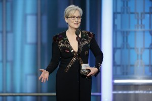 AP Photo Veteran actress Meryl Streep has received criticism and praise for her award acceptance speech, where she made negative references to Donald Trump.