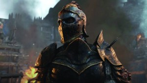 Courtesy of Ubisoft The game's story mode switches between three different characters, representing the three factions (knights, vikings and samurai) as they battle main villain Warlord Apollyon (above), who seeks to create perpetual war across the world with her knight army.
