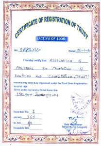 APPEC certificate of registration Pakistan