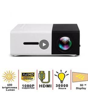 LEJIADA YG300 LED Mini Protable Projector 600 lumen Support 1080P