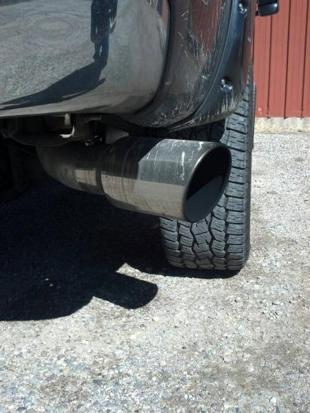 exhaust tip size chevy and gmc