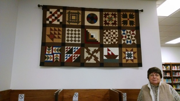 Dale Smith, a former nursing instructor at Durham Tech, donated a quilt to the college that shows detailed designs that some historians say were used during the Underground Railroad movement. Smith, who was an instructor at the college from 1997 to 2010, used Civil War era fabric to comprise the quilt. One 12-inch square of the quilt is made up of 72 individual pieces. The quilt is being displayed at the Orange County Campus in commemoration of Black History Month.