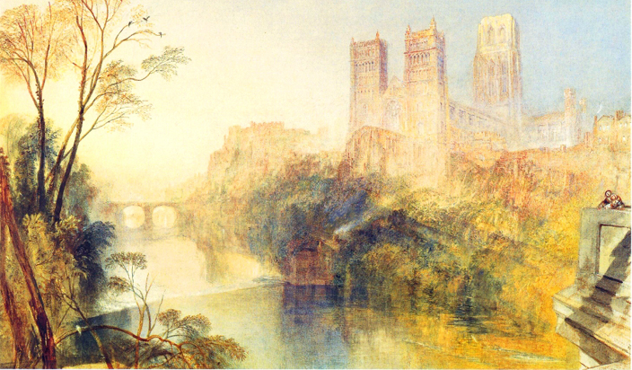The construction of Prebends' Bridge at a location that captured fantastic views of Durham Cathedral and the riverbanks has made the view from the bridge the classical postcard image of Durham. This isn't a recent thing - JMW Turner painted the view of the bridge in the 19th century, (but used artistic license to show more of the Cathedral, and included the Castle as well).