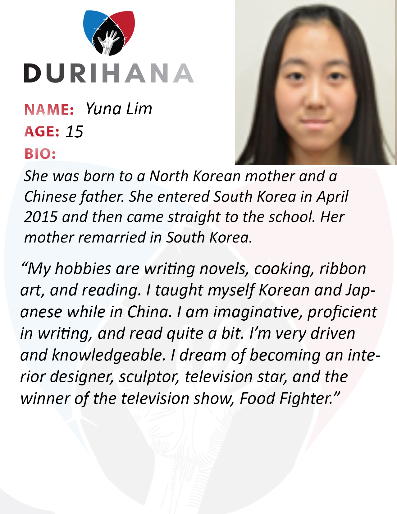 Biographies Durihana Inc