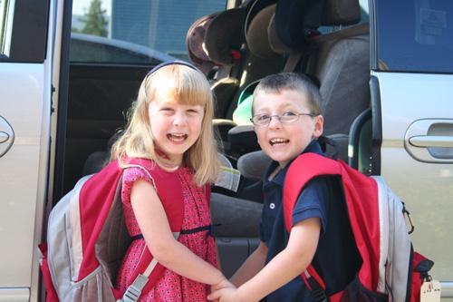 Colin and Lauren go to school