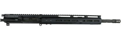 AR-15 Complete Upper Assembly, 16 Parkerized 4150 Steel Heavy Barrel, Diamond Fluted, .223 Wylde, Carbine Length Gas System, 1-8 Twist w: 12 MLOK Rail