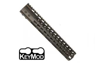 "American Made 12"" Ultra Lightweight Thin Keymod Free Floating Handguard with Monolithic Top Rail"