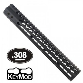 15 ULTRA LIGHTWEIGHT THIN KEY MOD FREE FLOATING HANDGUARD WITH MONOLITHIC TOP RAIL (.308 CAL)