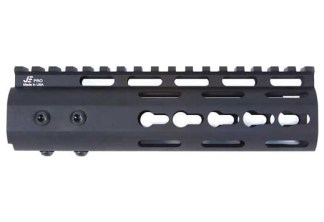 Pro Series - Made in USA - 7 Keymod Handguard Type III Class 2 Anodize w: Advanced Anti-Rotation Feature in Black and NSR Platform Barrel Nut