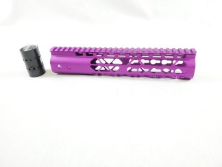 10″ AIR LITE KEYMOD FREE FLOATING HANDGUARD WITH MONOLITHIC TOP RAIL (Purple)
