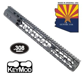 15″ AIR LITE KEYMOD FREE FLOATING HANDGUARD WITH MONOLITHIC TOP RAIL (.308 CAL)