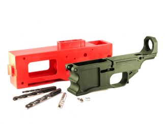 Polymer80, 308 80% Lower Receiver and Jig System - OD Green