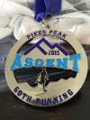 Pikes Peak Ascent Medal