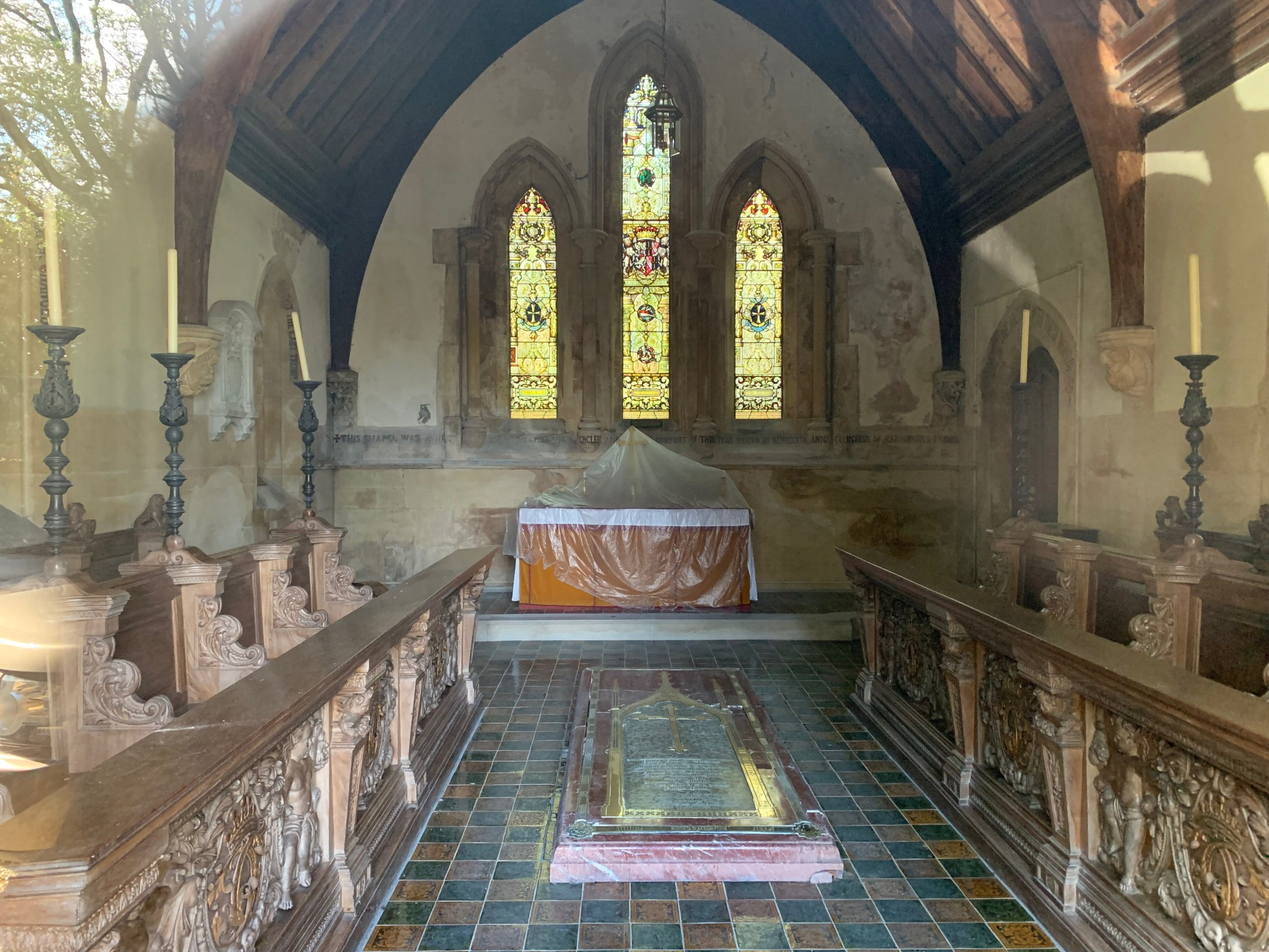 Inside Highclere Chapel