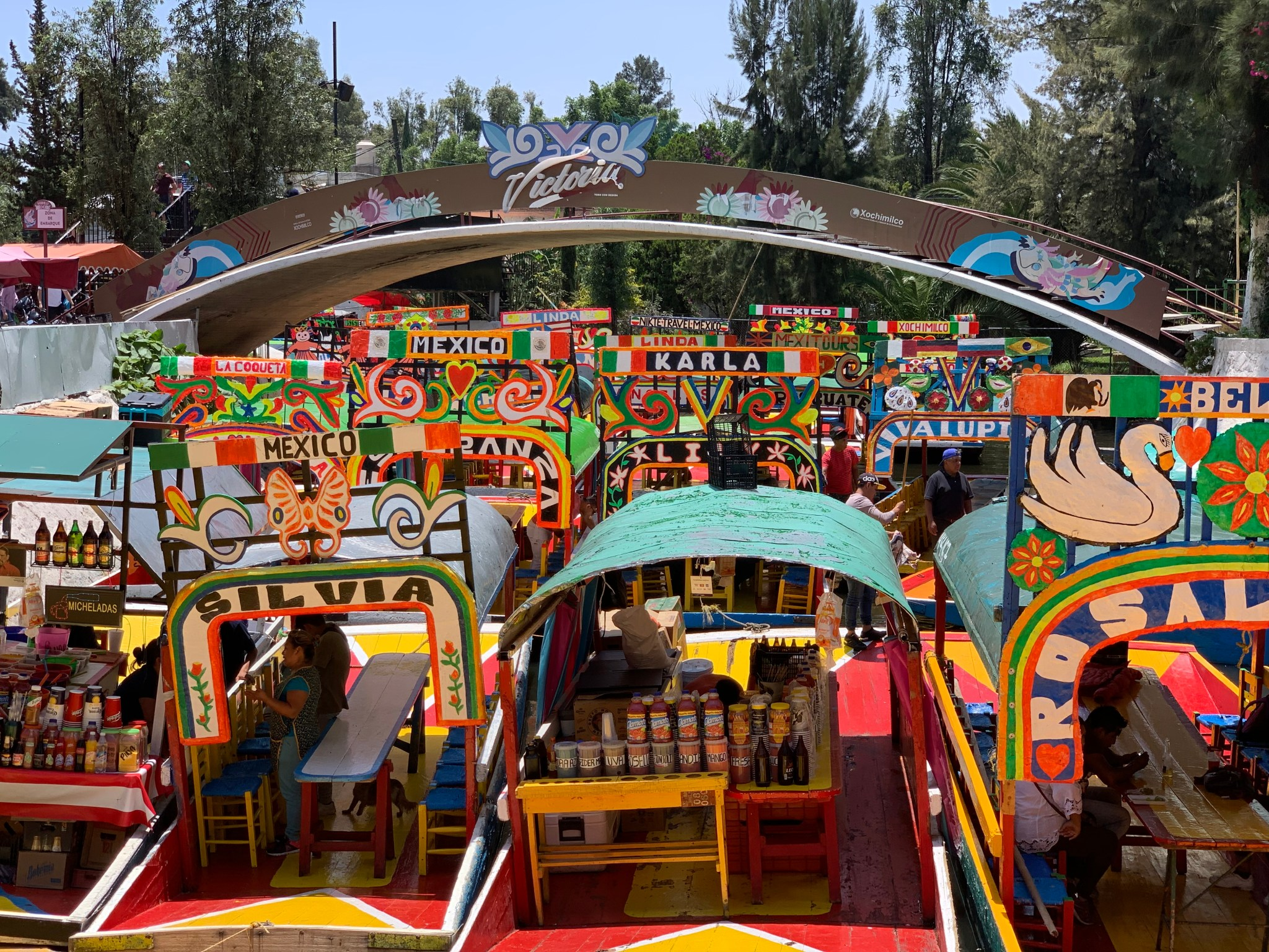 Boats at Xochimilco