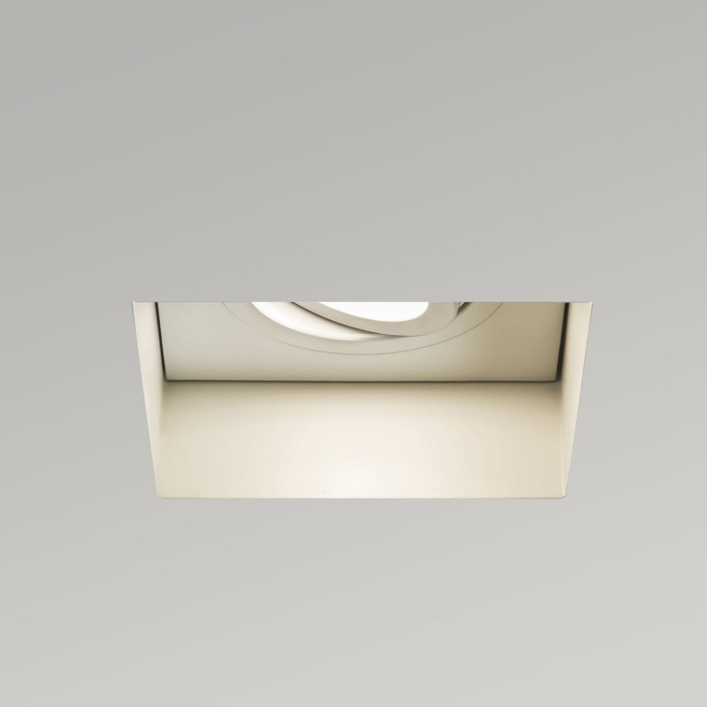astro trimless square adjustable fire rated recessed ceiling downlight