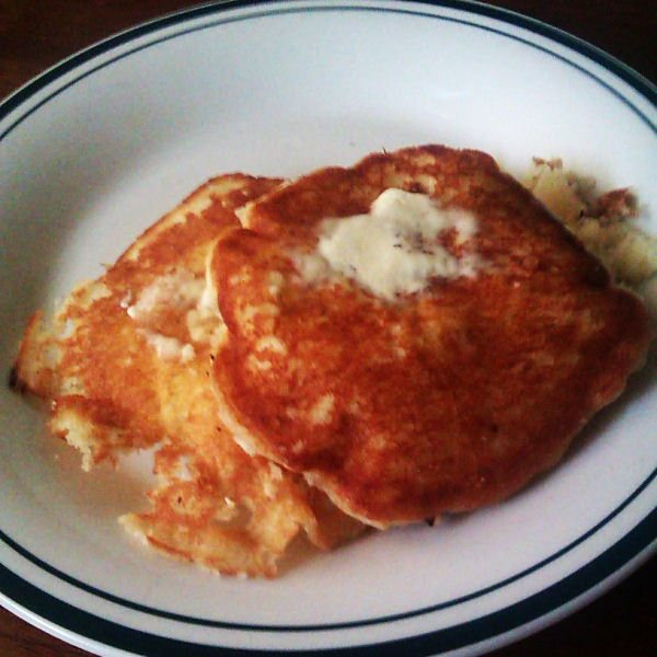 Pear Walnut Pancakes - Plated