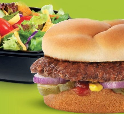 Healthier Fast Food Choices - Culvers Butter Burger and Salad