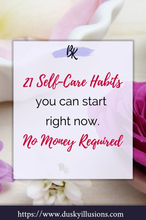 Self-care habits