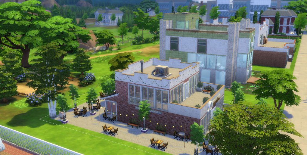 Sims 4 Cafe
