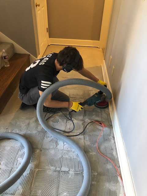 dust free tile removal and flooring
