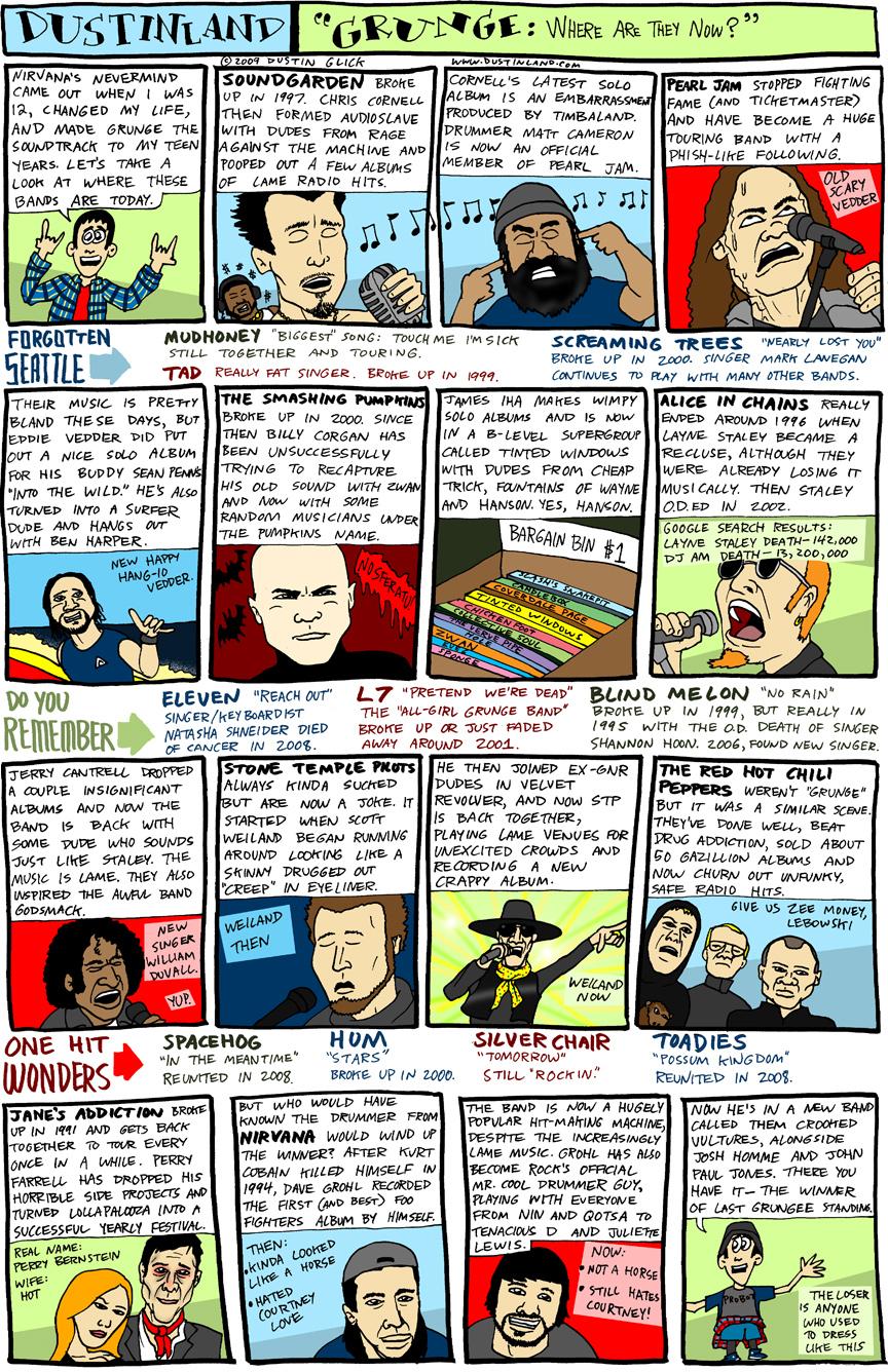 dustinland comic grunge