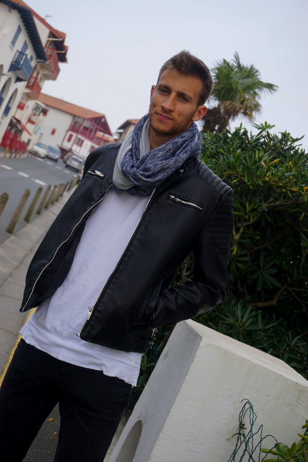 LOOK HOMME ROCK CHIC PERFECTO ZARA BLOG MODE COUPLE BORDEAUX BIDART WEEK END DANS LE PAYS BASQUE 07