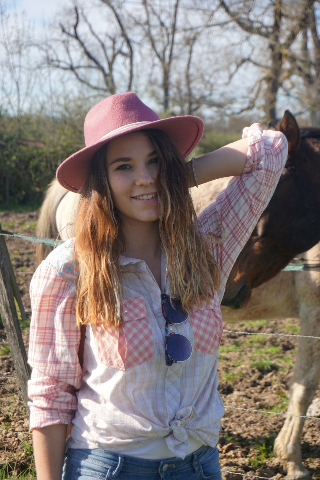 LOOK WESTERN GIRLY COW GIRL CHAPEAU ROSE BLOG MODE BORDEAUX FRANCE CORSE FASHION CENTRE EQUESTRE 12
