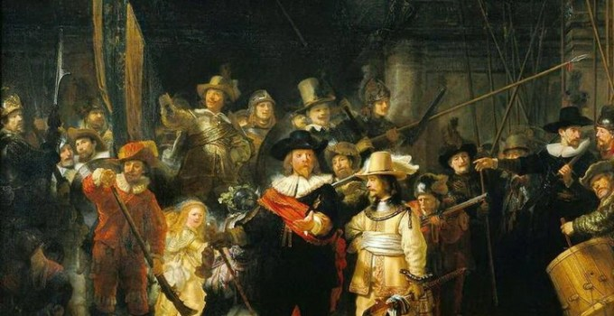 Rembrandt's painting The Night Watch, Rijksmuseum, Amsterdam