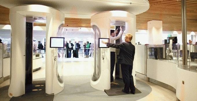 Schiphol Amsterdam Airport body scan