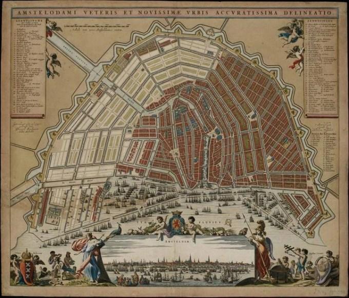 Amsterdam map Daniel Stalpaert