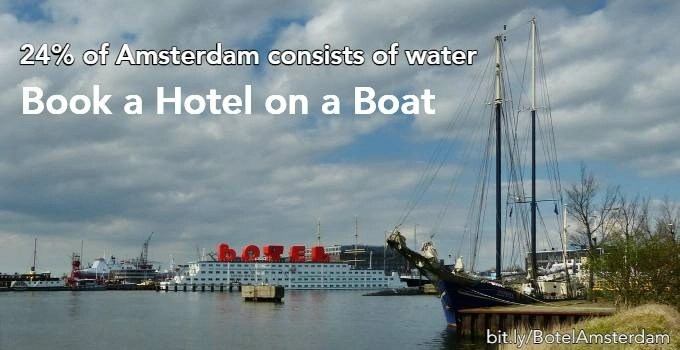 hotel on a boat in Amsterdam