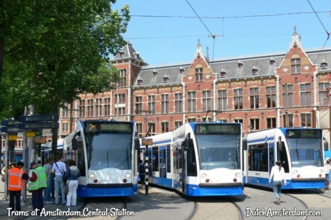 public transport trams in Amsterdam