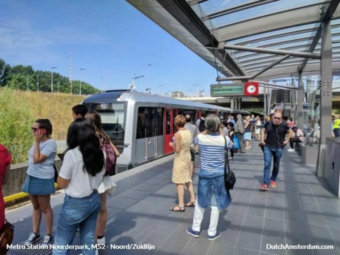 Amsterdam metro station Noorderpark