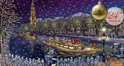 Amsterdam Christmas canal boat parade