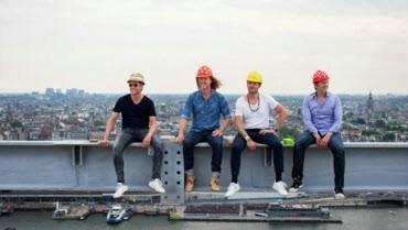 You get a free souvenir: a digital photo that shows you balancing high above Amsterdam