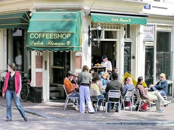 Coffeeshop Dutch Flowers, Singel, Amsterdam
