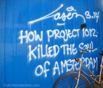 Well-known graffiti artist makes his feelings about Project 1012 known