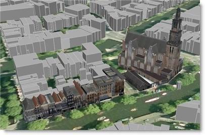 Amsterdam Westerkerk in 3D with Google Earth