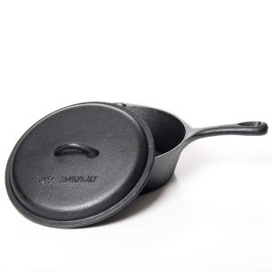 CAST IRON DEEP FRY SKILLET WITH LID 10.5X3""